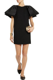 Giambattista Valli Bow-embellished textured-wool mini dress
