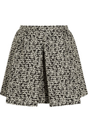 Giambattista Valli Pleated metallic tweed mini skirt