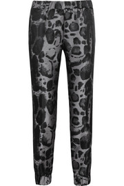 Giambattista Valli Leopard-jacquard tapered pants
