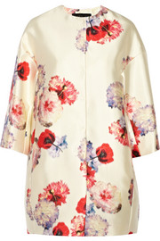 Giambattista Valli Floral-print satin-twill coat