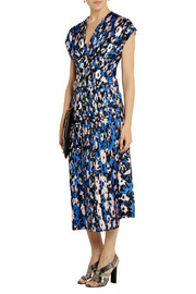 Marni Printed plissé-silk dress