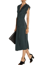 Marni Pleated silk-crepe dress