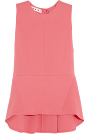 Marni Wool-crepe peplum top