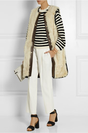 Marni Leather-trimmed shearling vest