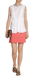 Marni Double-faced wool-crepe mini skirt
