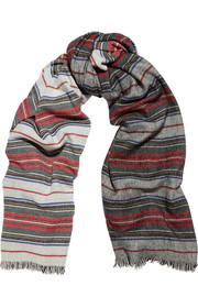 Isabel Marant Jump striped wool and cashmere-blend scarf