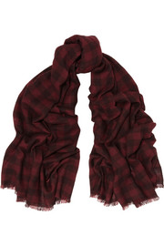 Isabel Marant Hamper checked cashmere scarf