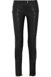 Balmain Stretch-leather skinny pants
