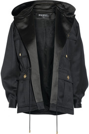 Balmain Hooded wool-gabardine jacket
