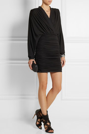 Balmain Ruched jersey mini dress