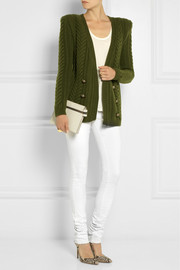 Balmain Cable-knit wool cardigan