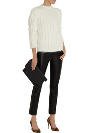 Balmain Ribbed angora-blend sweater