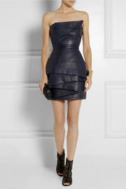 Balmain Leather mini dress