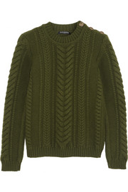 Balmain Cable-knit wool sweater