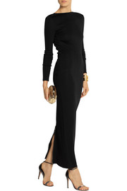 Pierre Balmain Open-back stretch-knit maxi dress