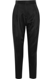 Mulberry silk tapered pants