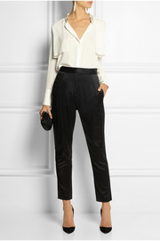 Pierre Balmain Mulberry silk tapered pants