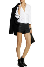 Pierre Balmain Leather shorts