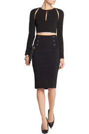 Pierre Balmain Stretch-knit pencil skirt