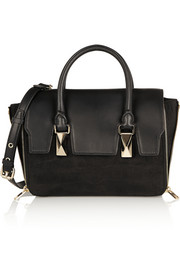 Karl Lagerfeld K/School mini leather and nubuck tote