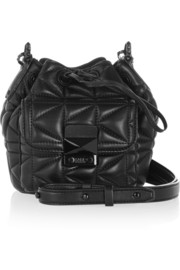 Karl Lagerfeld K/Kuilted mini leather shoulder bag