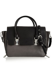 Karl Lagerfeld K/School two-tone leather tote