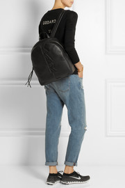Karl Lagerfeld Appliquéd leather backpack