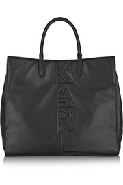 Karl Lagerfeld Appliquéd leather tote