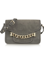 Karl Lagerfeld K/Chain leather and suede shoulder bag