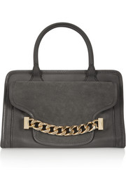 Karl Lagerfeld K/Chain textured-leather and suede tote
