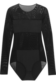 By Malene Birger Filosyfi stretch jersey-paneled mesh bodysuit