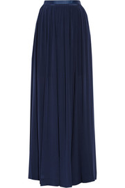 By Malene Birger Severa pleated silk crepe de chine maxi skirt