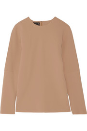 By Malene Birger Calypta paneled crepe top