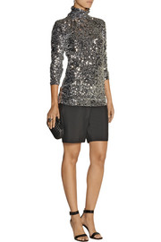 By Malene Birger Zio sequined turtleneck top