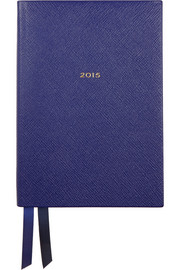 Smythson Soho 2015 textured-leather diary