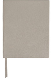 King Manuscript textured-leather notebook
