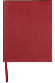 Smythson King Manuscript textured-leather notebook