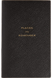 Smythson Places To Remember textured-leather notebook