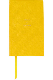 Smythson Make It Happen textured-leather notebook