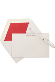 Smythson Set of 10 Live Love Laugh note cards