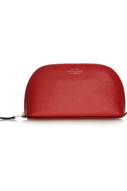 Smythson Panama textured-leather cosmetics case