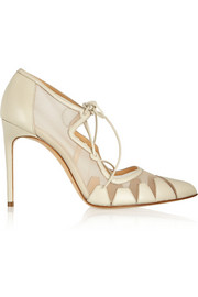 Bionda Castana Dekota leather and mesh pumps