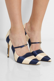 Bionda Castana Renee striped satin pumps