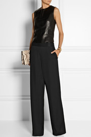 Calvin Klein Collection Gabardine wide-leg pants