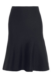 Calvin Klein Collection Fluted stretch cashmere-blend skirt