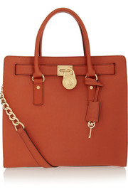 MICHAEL Michael Kors Hamilton large textured-leather tote