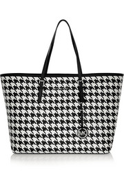 Jet Set Travel medium printed textured-leather tote