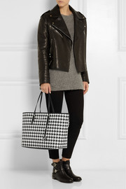 MICHAEL Michael Kors Jet Set Travel medium printed textured-leather tote