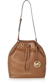 MICHAEL Michael Kors Jules large textured-leather bucket bag