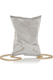 Anya Hindmarch Crisp Packet silver-tone clutch
